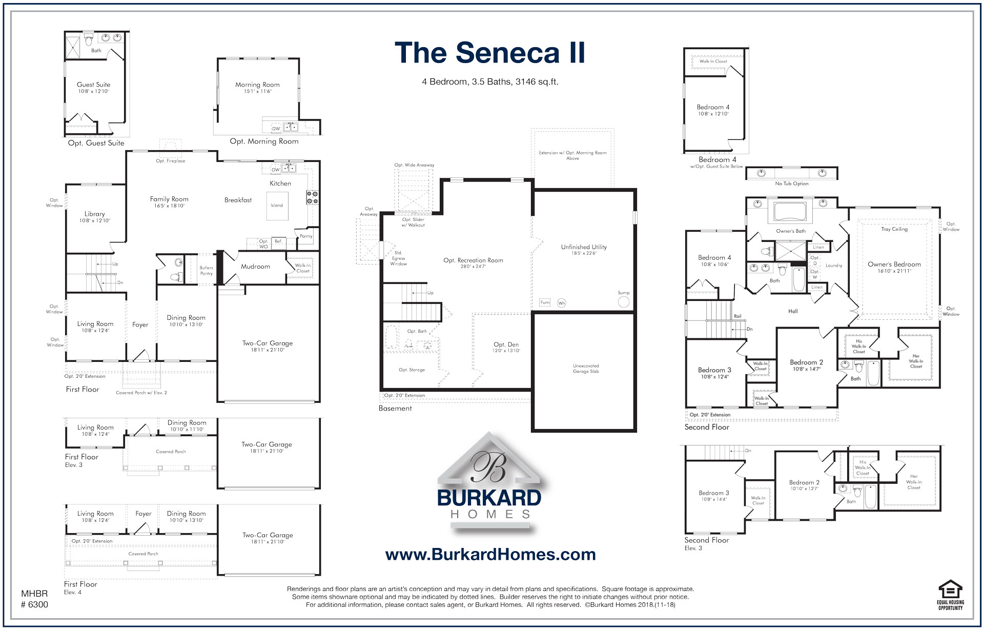 Burkard Homes Seneca II Floor Plan
